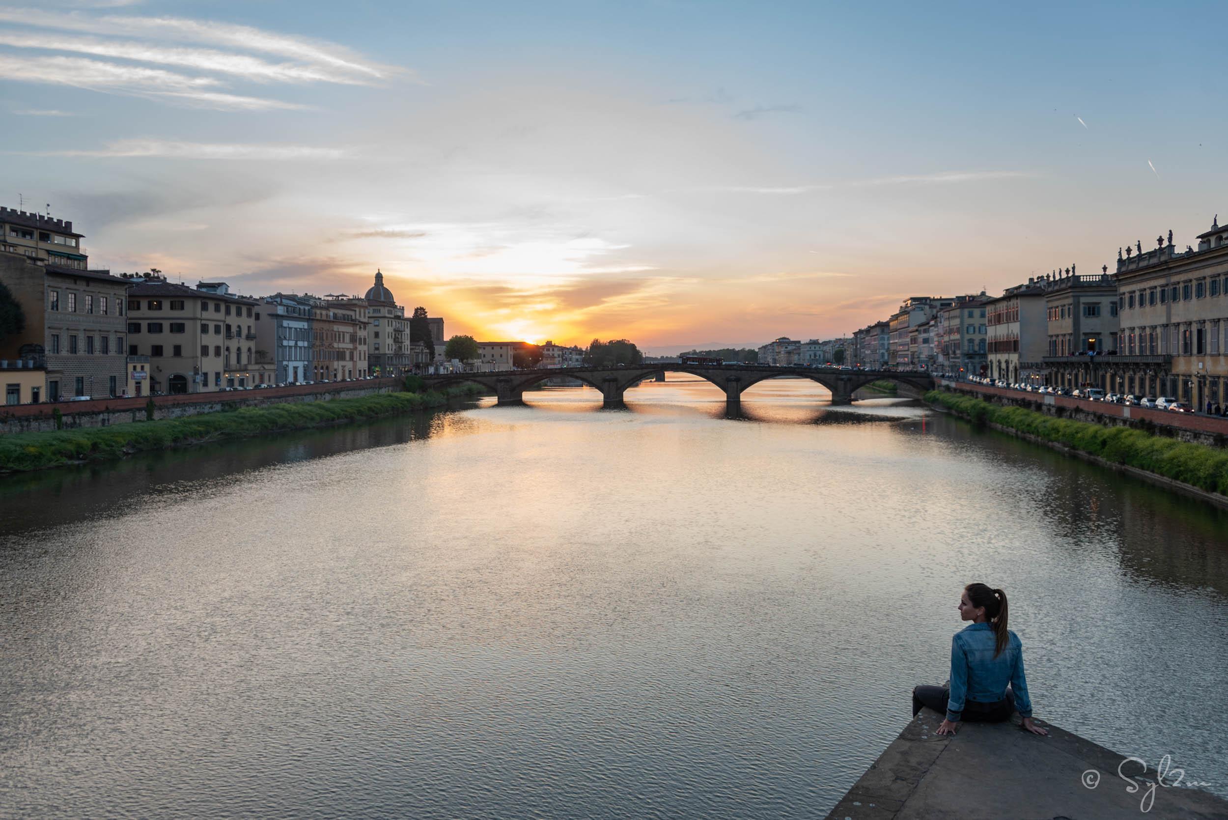 Coucher de soleil - Santa Trinita un Firenze