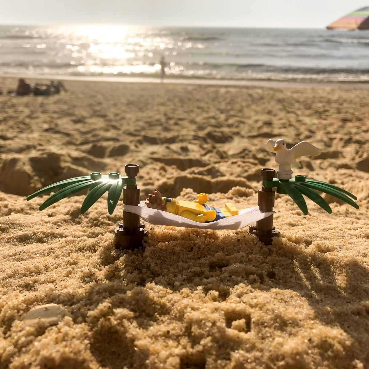Lego en vacances à la plage