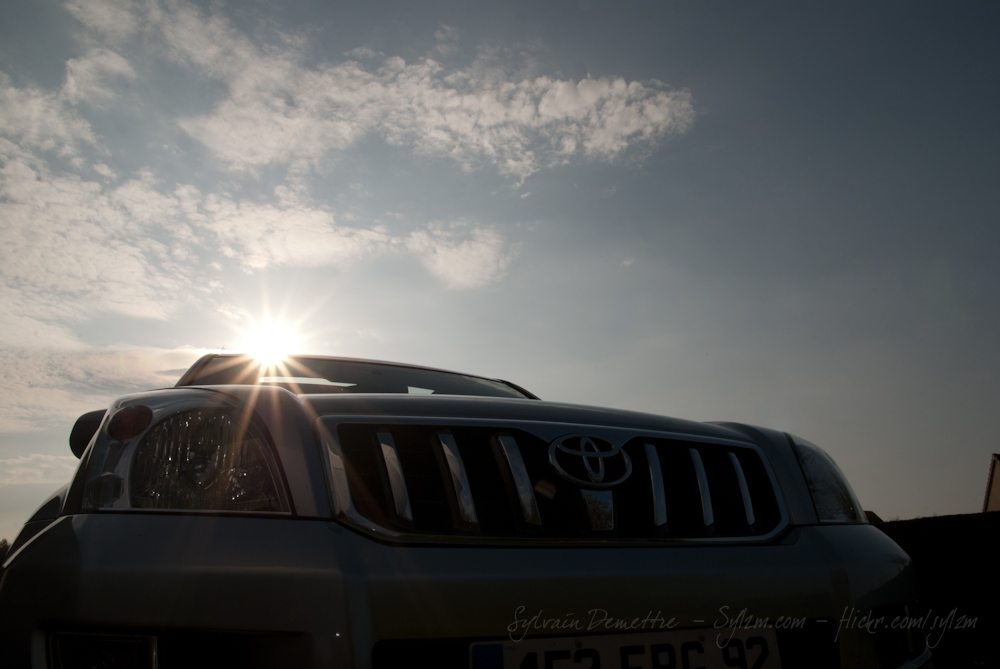 Car and Sun