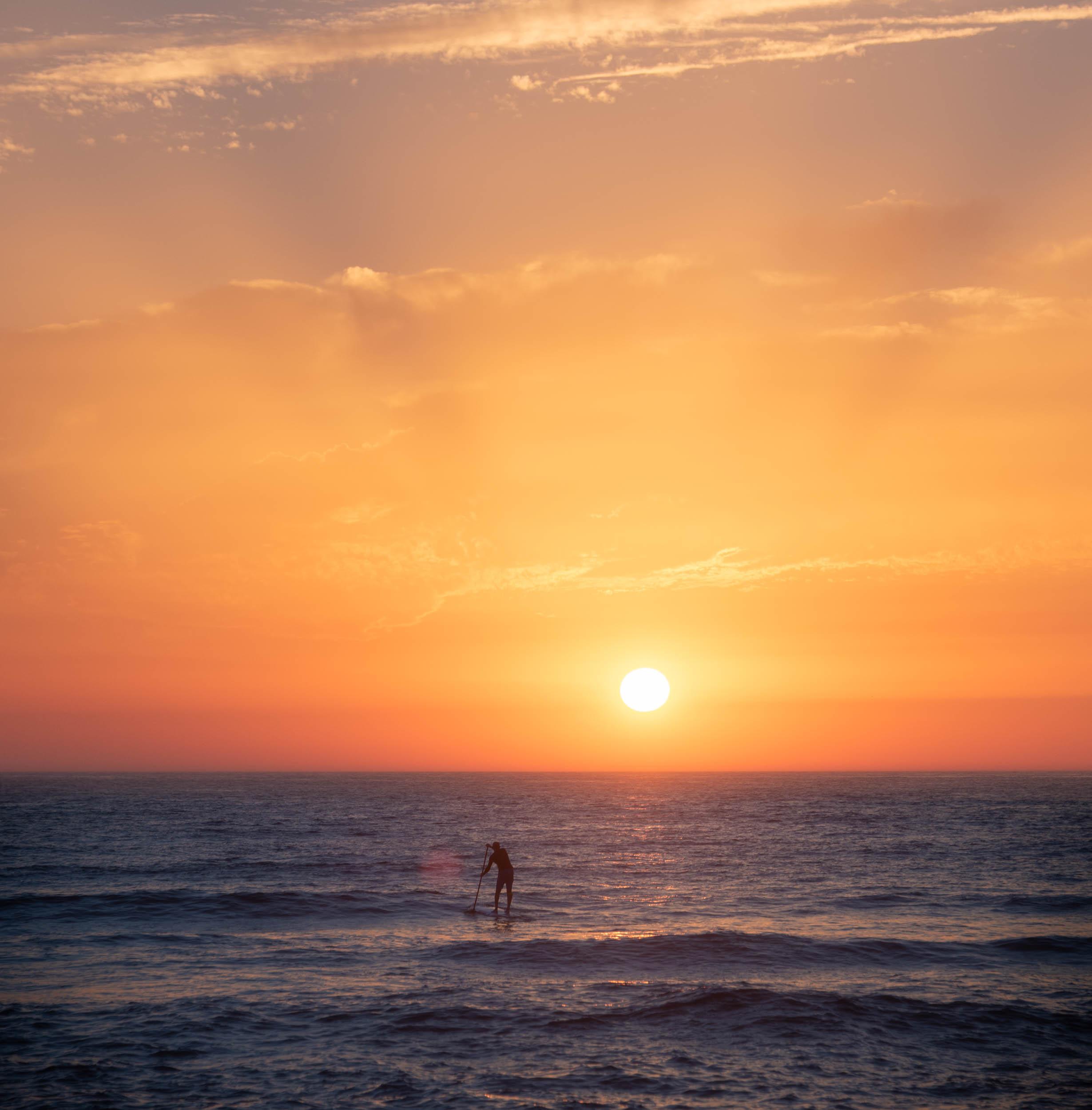 Paddle au coucher du soleil