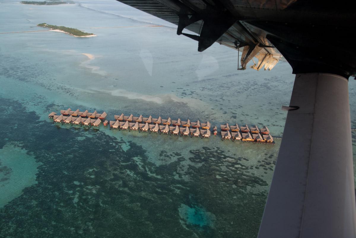 Maldives vue d'un hydravion
