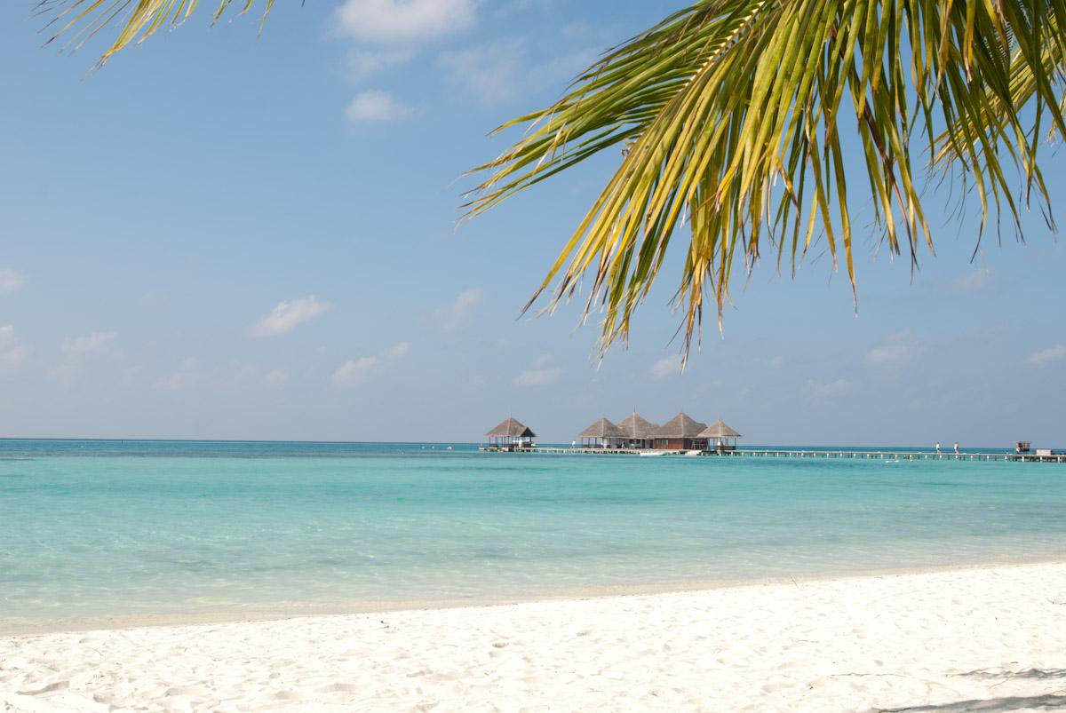 Vue de la plage Maldives